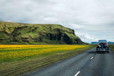 motorcross: epic Landscape in Iceland street Motorcross MX Adventure