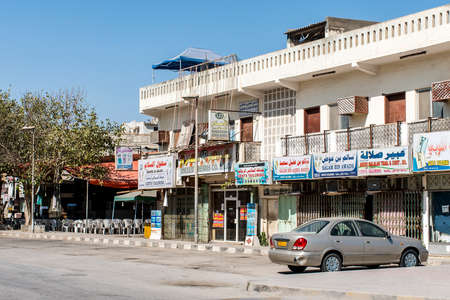 muttrah: October 21, 2015, Oman, Salalah, Houses and shops near old souq of Sultanate Middle East