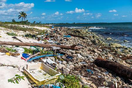 멕시코 해양 오염 문제 플라스틱 쓰레기 3 스톡 콘텐츠