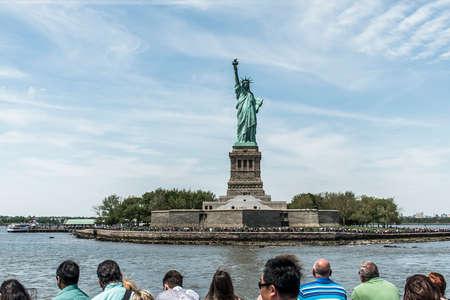 Statue of Liberty New York Skyline Monument Stock Photo