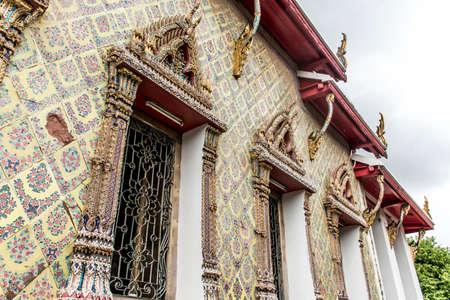 Wat Pho Temple Bangkok Thailand architecture mosaik Stock Photo