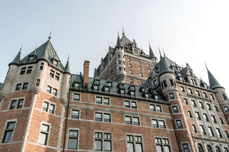 Canada Quebec City Sunset Chateau Frontenac most famous tourist attraction UNESCO World Heritage Site