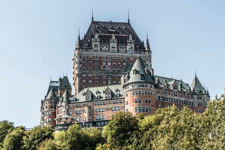 Canada Quebec City Chateau Frontenac most famous tourist attraction UNESCO World Heritage Site Banco de Imagens