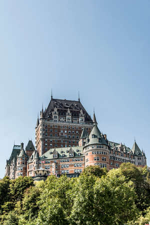 Canada Quebec City Chateau Frontenac most famous tourist attraction UNESCO World Heritage Site Stock Photo