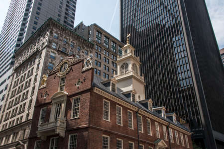 Boston, MA, USA Old State House downtown financial district Oldest surviving public building and site of Boston Massacre
