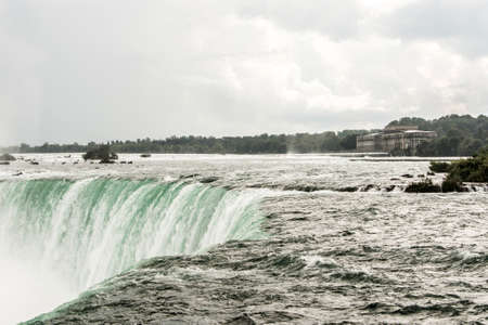 Incredible View on the Niagara Falls in Ontario, Canada showing how huge they are