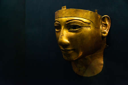 CAIRO, EGYPT 25.05.2018 - Pharao Mask in Egyptian Museum Cairo main attraction Editorial