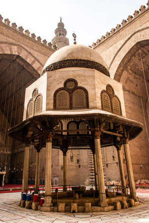 the great Mosques of Sultan Hassan and Al-Rifai in Cairo - Egypt Stock Photo