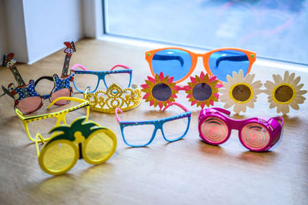 Retro Party set Glasses, lips, mustaches, masks design photo booth party wedding funny pictures