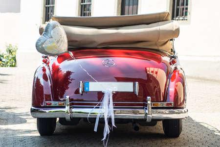 Ochtendung Germany 25.05.2019 Mercedes-Benz Typ 300 Adenauer W186 Cabriolet luxury Oldtimer decorated for wedding