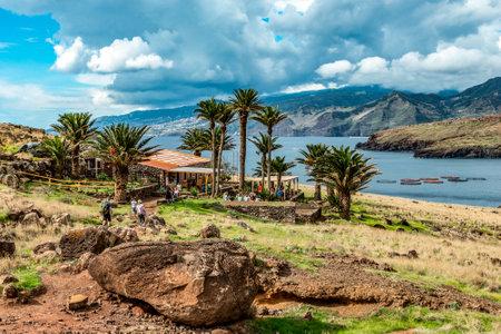 26.10.2018 Madeira Portugal Refreshing station at Ponta de Sao Lourenco, the island of Madeira
