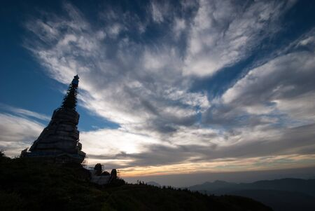 Landscape of pagoda in an Inthanon mountain photo