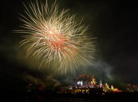 the royal park: Fireworks Celebration in Royal Park Rajapruek ChiangmaiThailand