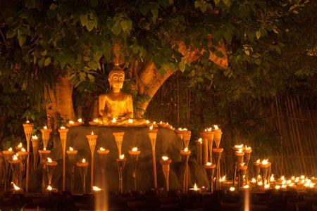 thai monk: Floating lantern in Wat Phan Tao ChiangmaiThailand