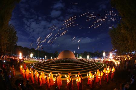 yeepeng: Mae Jo ChiangmaiThailand  November 16 2013:Floating lantern YeePeng Firework Festival