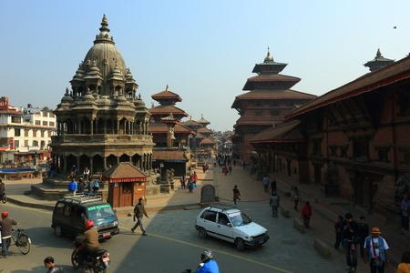 kathmandu: Kathmandu Nepal March 24 2015: Patan Durbar Square before earthquake.