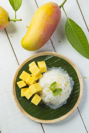 mango leaf: Mango sticky rice