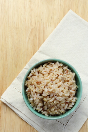 brown rice: Brown Rice on Napery