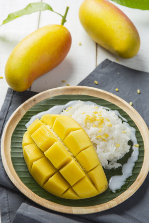 sticky: Sticky rice with mango