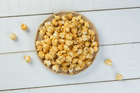 popcorn kernel: Cheese Popcorn Stock Photo