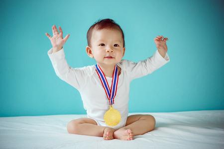 赤ちゃんの優勝者 写真素材
