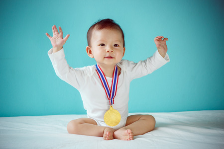 The baby winner Banque d'images