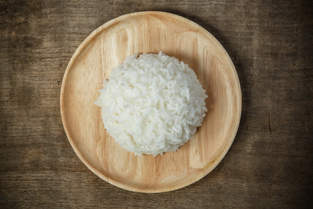 White Dry cooked Rice - soft focus Stock Photo