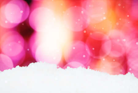 focus shot: Christmas Background on abstract background and snowflakes - selective focus shot