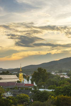 chant: Statue of Buddha at Wat Suan Dok in Chiangmai Thailand Stock Photo