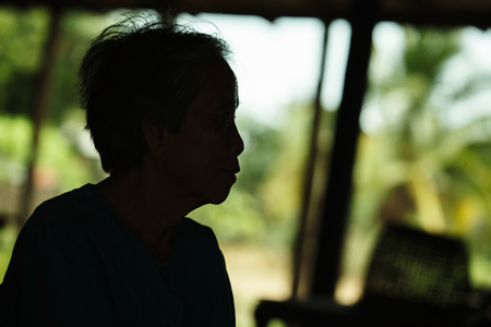 underdeveloped: Silhouette of Senior women