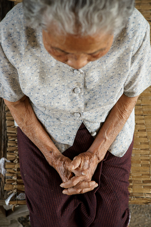 Top view of Asian Grandmother