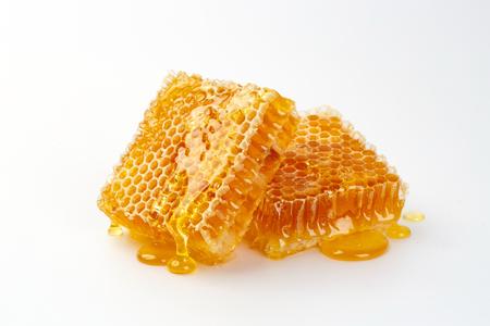 Sweet honeycomb, isolated on white