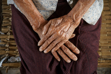 underdeveloped: Hold ones hands of Asian Grandmother