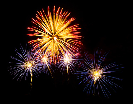 color of year: New Year celebration fireworks  - Vibrant color effect
