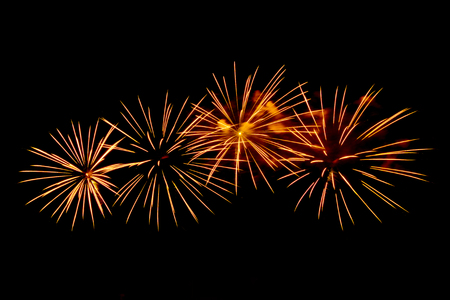next year: A large Fireworks Display event  - Vibrant color effect