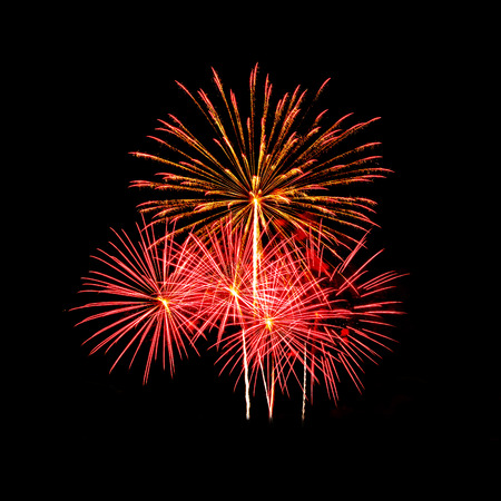 A large Fireworks Display event  - Vibrant color effect