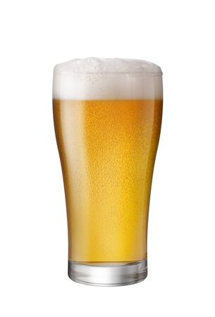 Glass of Light Beer isolate white background with copy space 写真素材