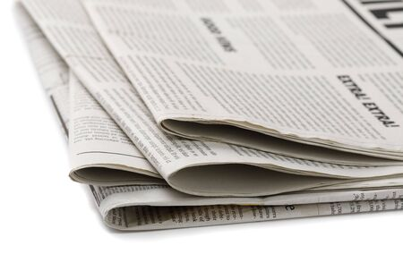 Business Newspaper isolated on white background, Daily Newspaper mock-up concept
