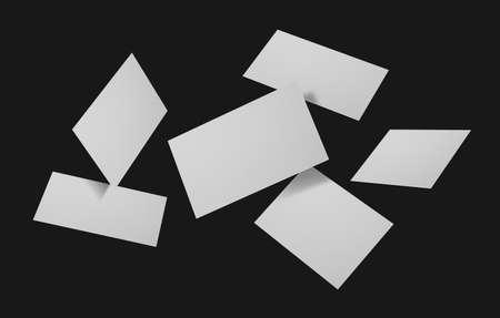 Group of minimal business card mockup Stock Photo