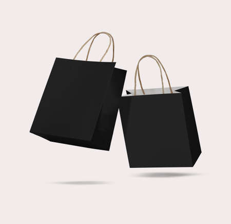 Black friday sales with shopping bag mockup template
