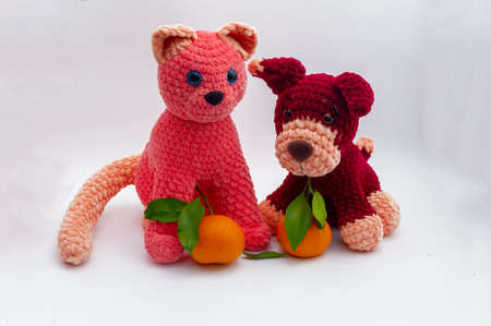 Free Playing Cats Crochet Amigurumi Pattern - Little Bear Crochets | 299x450