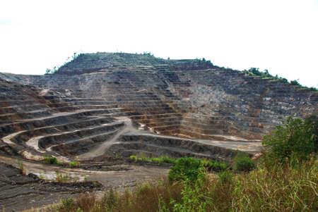 berm: Zinc mines, where a large deposit of zinc silicate was found, Tak, Thailand Stock Photo