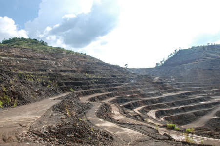 Zinc mines, where a large deposit of zinc silicate was found, Tak, Thailand photo