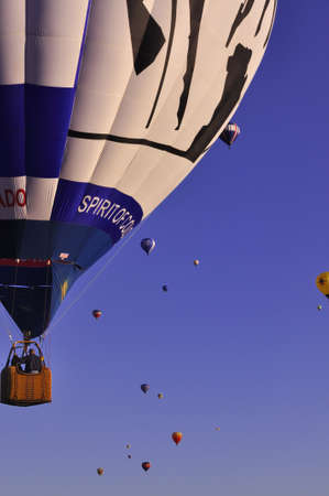 Hot Air Balloon Ascending in a group