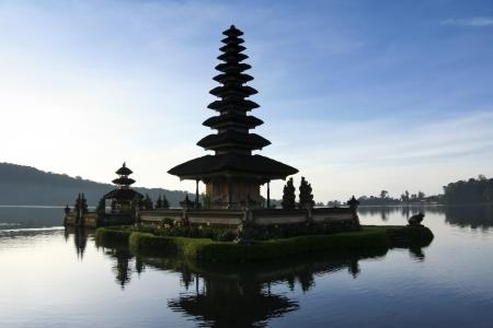 Pura Ulun Danu temple on lake brataan, bali, indonesia