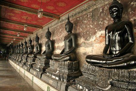 wat suthat buddhist temple in bangkoks old city thailand photo