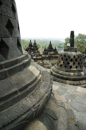 stupas: Dettagli di stupa, borobudur rovine vicino yogyakarta Indonesia java