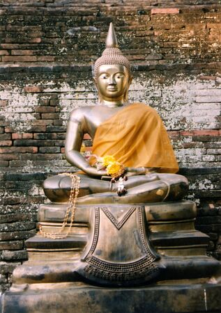serene buddha in chiang mai thailand photo