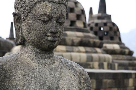borobudur ruins near yogyakarta in java indonesia photo