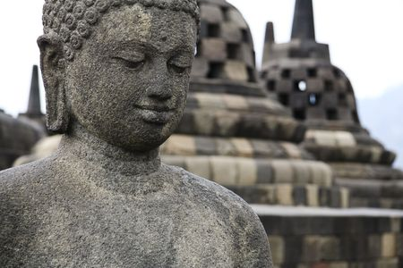 borobudur: borobudur ruins near yogyakarta in java indonesia